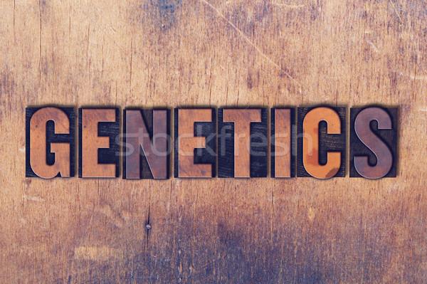 генетика слово древесины написанный Vintage Сток-фото © enterlinedesign