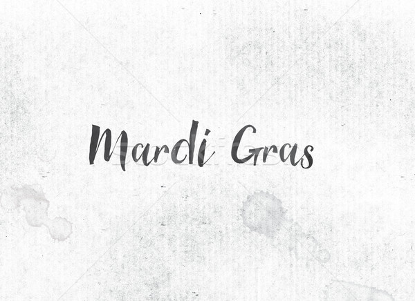 Mardi Gras Concept Painted Ink Word and Theme Stock photo © enterlinedesign
