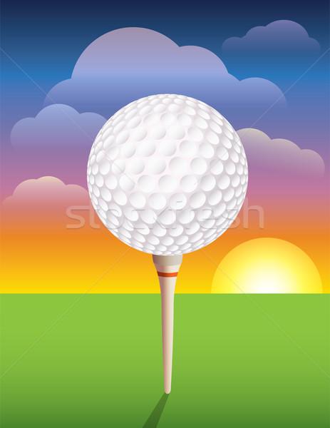 мяч для гольфа Nice дизайна гольф приглашения Сток-фото © enterlinedesign