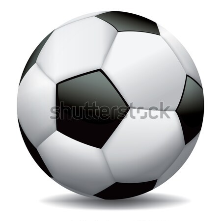 Realistic Soccer Ball on White Background Stock photo © enterlinedesign