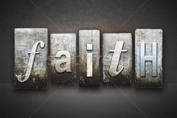 Faith Letterpress Stock photo © enterlinedesign