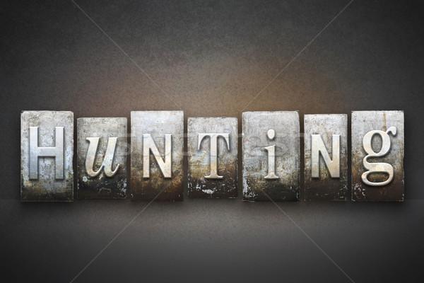 Hunting Letterpress Stock photo © enterlinedesign
