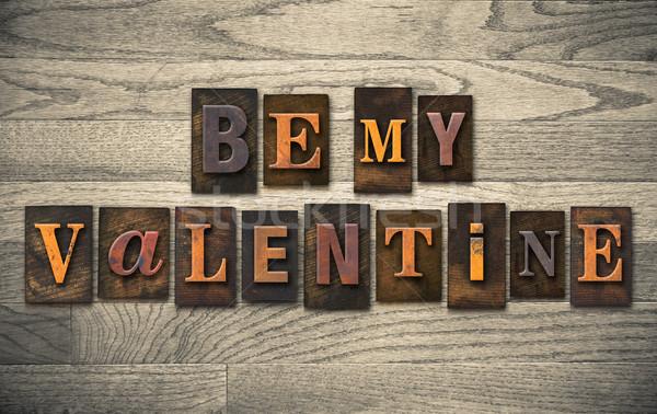Meu valentine escrito Foto stock © enterlinedesign