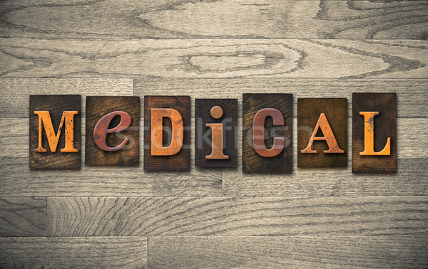 Medical Wooden Letterpress Theme Stock photo © enterlinedesign