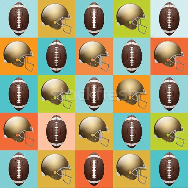Vector American Football Pattern Illustration Stock photo © enterlinedesign