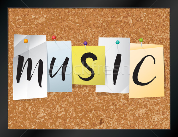 Music Bulletin Board Theme Illustration Stock photo © enterlinedesign