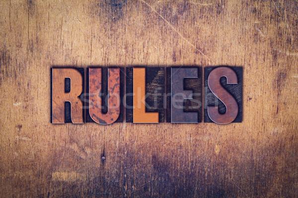 правила тип слово написанный Сток-фото © enterlinedesign
