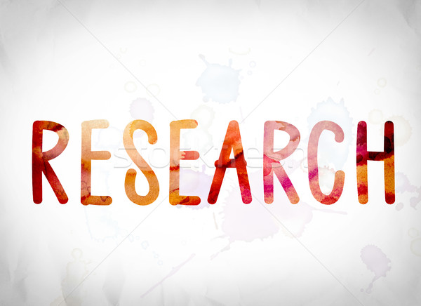 Research Concept Watercolor Word Art Stock photo © enterlinedesign