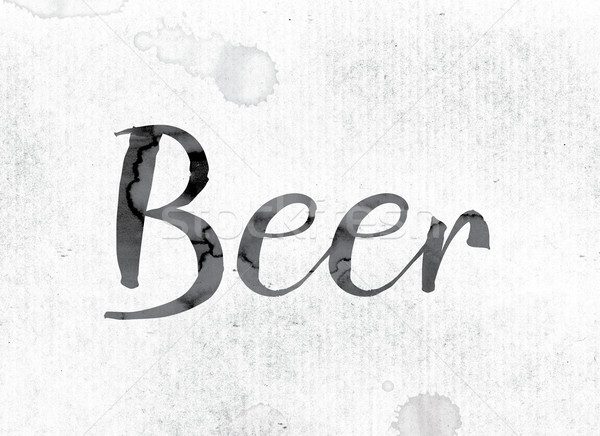 Beer Concept Painted in Ink Stock photo © enterlinedesign