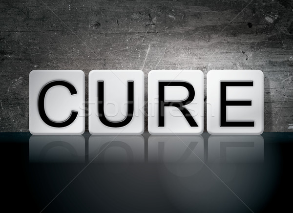 Cure Tiled Letters Concept and Theme Stock photo © enterlinedesign