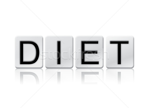 Diet Isolated Tiled Letters Concept and Theme Stock photo © enterlinedesign