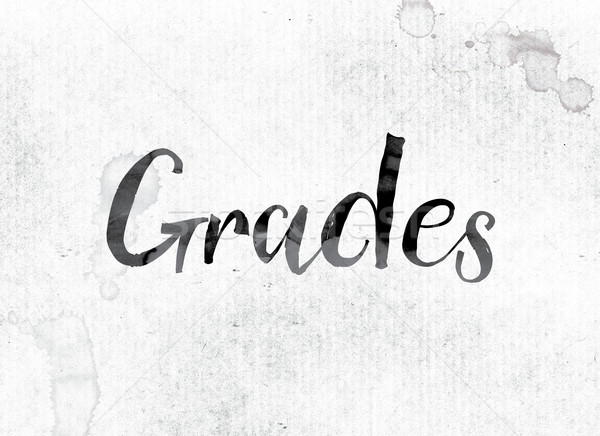 Grades Concept Painted in Ink Stock photo © enterlinedesign