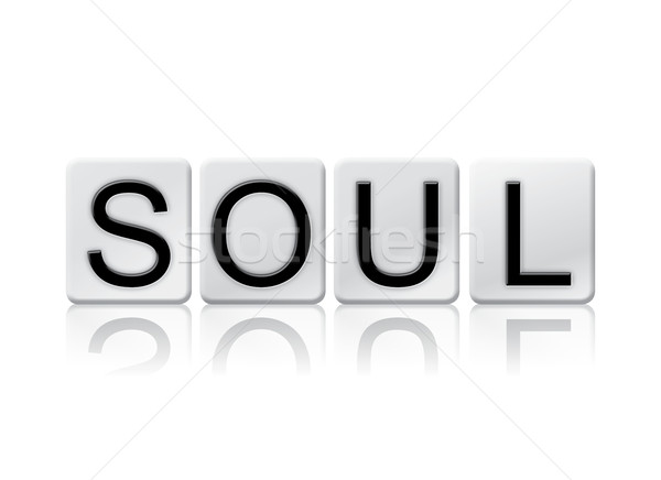 Soul Isolated Tiled Letters Concept and Theme Stock photo © enterlinedesign