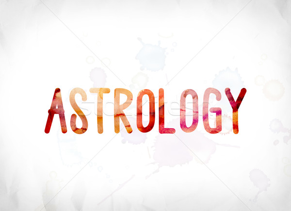 Astrologia verniciato acquerello parola arte colorato Foto d'archivio © enterlinedesign
