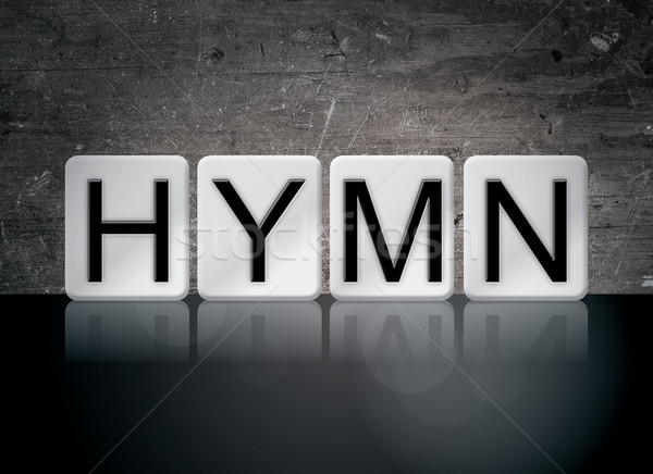 Hymn Concept Tiled Word Stock photo © enterlinedesign