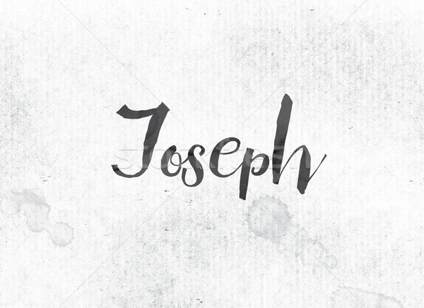 Joseph Concept Painted Ink Word and Theme Stock photo © enterlinedesign