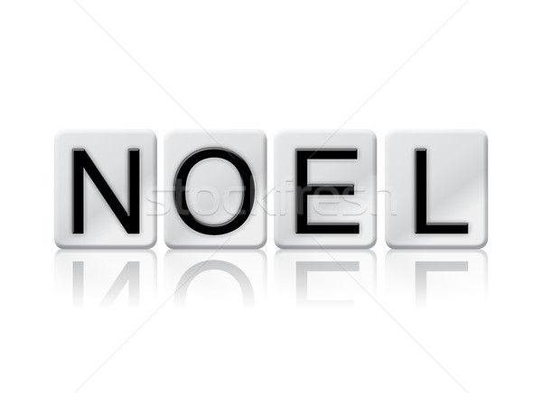 Noel Concept Tiled Word Isolated on White Stock photo © enterlinedesign