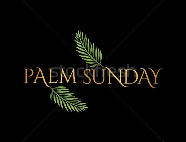 Palm Sunday Christian Holiday Theme Illustration Stock photo © enterlinedesign