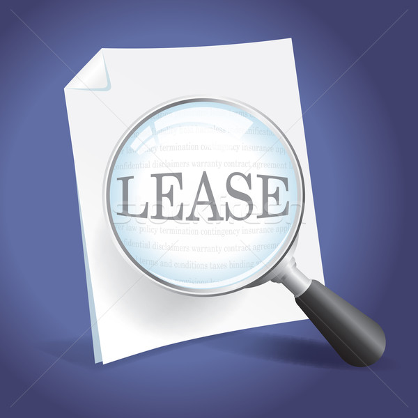 Reviewing a Lease Agreement Stock photo © enterlinedesign