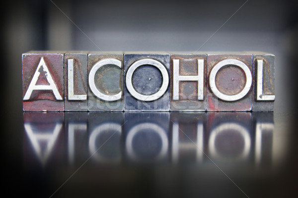 Alcohol Letterpress Stock photo © enterlinedesign