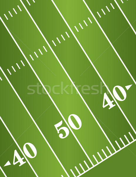 Diagonal American Football Field Background Stock photo © enterlinedesign