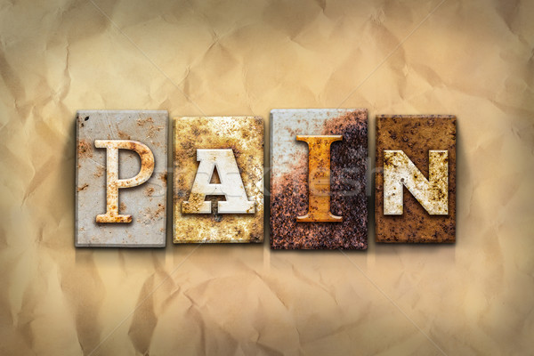 Pain Concept Rusted Metal Type Stock photo © enterlinedesign