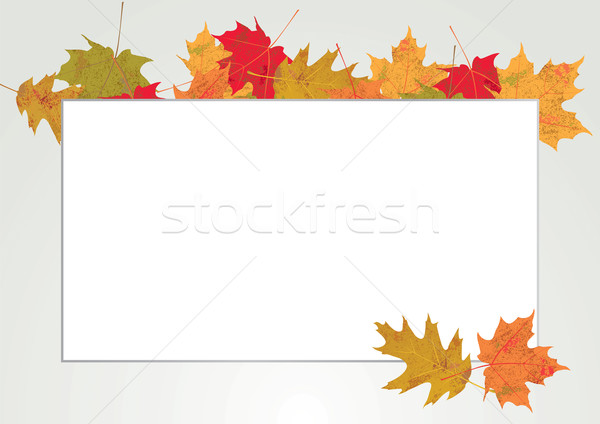 Autum Leaves Copyspace Border Illustration Stock photo © enterlinedesign