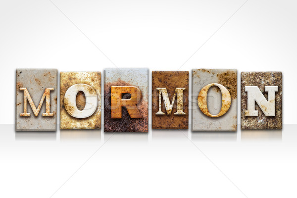Mormon Letterpress Concept Isolated on White Stock photo © enterlinedesign