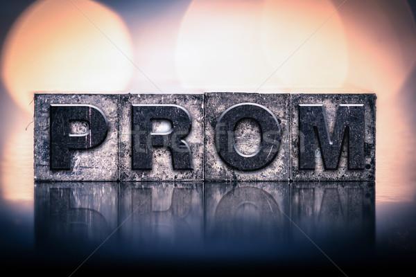 Prom vintage tipo palavra escrito Foto stock © enterlinedesign