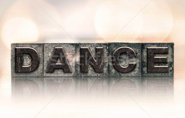 Stock photo: Dance Concept Vintage Letterpress Type