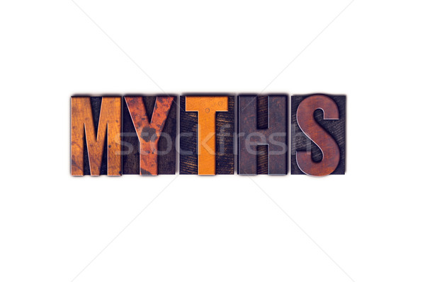 Myths Concept Isolated Letterpress Type Stock photo © enterlinedesign