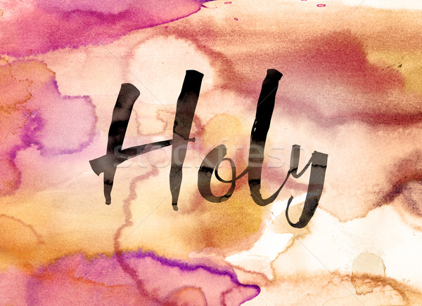 Holy Concept Watercolor Theme Stock photo © enterlinedesign
