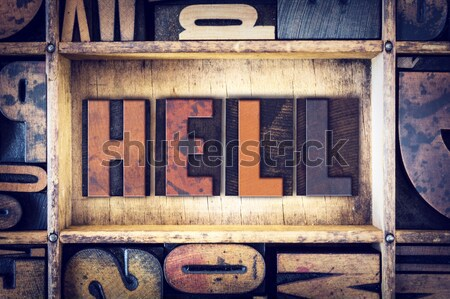 Think Concept Letterpress Type Stock photo © enterlinedesign