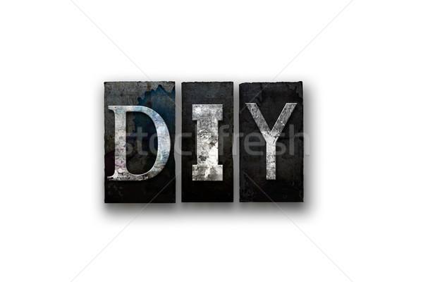 изолированный тип слово написанный Сток-фото © enterlinedesign