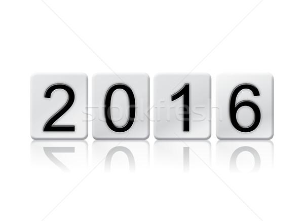 2016 isolato piastrellato lettere parola scritto Foto d'archivio © enterlinedesign