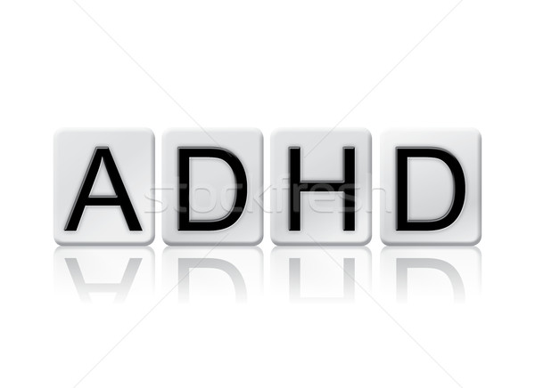 ADHD Isolated Tiled Letters Concept and Theme Stock photo © enterlinedesign