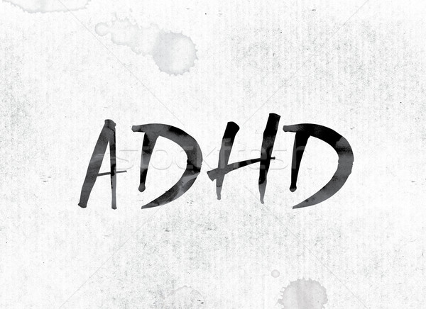 ADHD Concept Painted in Ink Stock photo © enterlinedesign