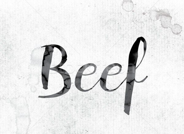 Beef Concept Painted in Ink Stock photo © enterlinedesign