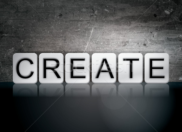 Create Tiled Letters Concept and Theme Stock photo © enterlinedesign