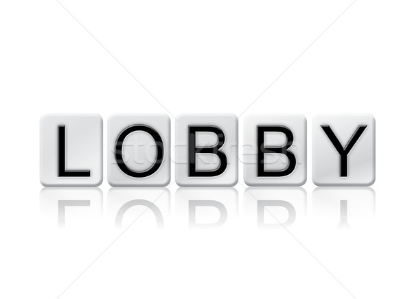 Lobby Isolated Tiled Letters Concept and Theme Stock photo © enterlinedesign