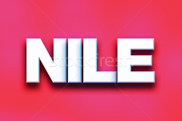 Nile Concept Colorful Word Art Stock photo © enterlinedesign