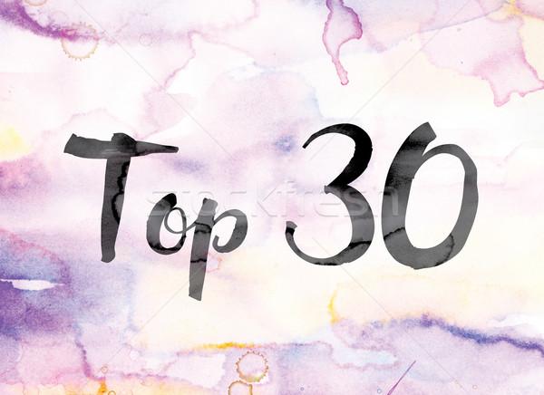 Topo 30 colorido aquarela nosso palavra Foto stock © enterlinedesign