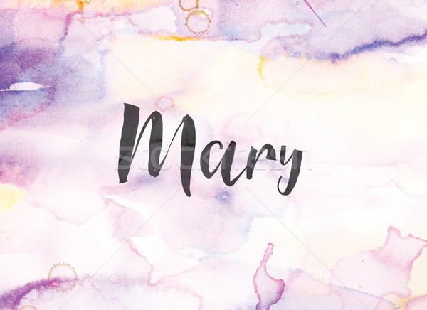 Mary Concept Watercolor and Ink Painting Stock photo © enterlinedesign