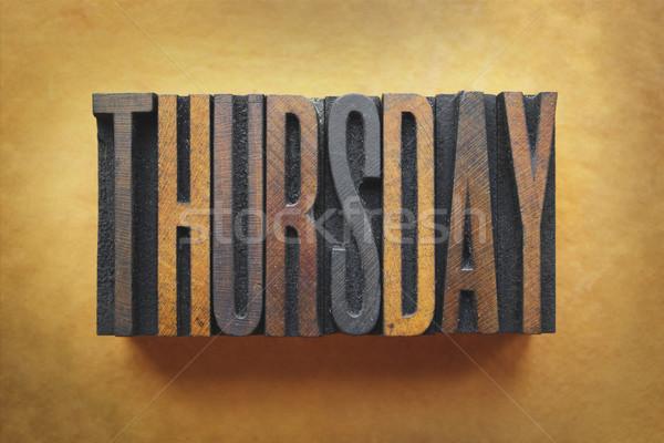 Thursday Stock photo © enterlinedesign