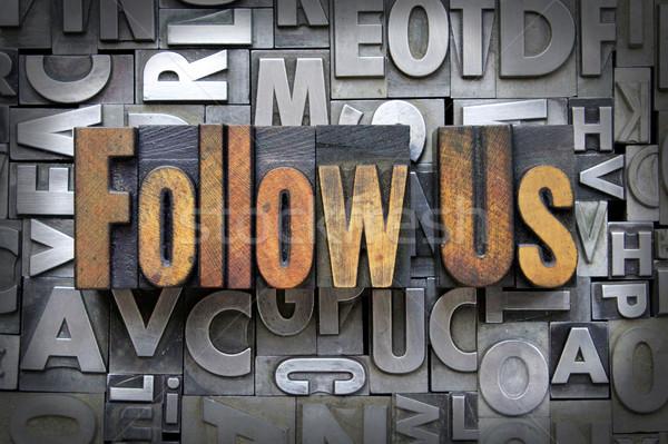 Follow Us Stock photo © enterlinedesign
