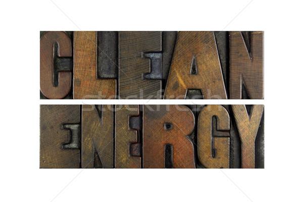Чистая энергия слов написанный Vintage тип Сток-фото © enterlinedesign