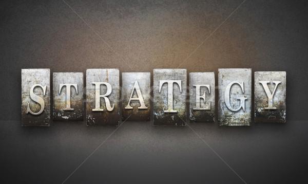 Strategy Letterpress Stock photo © enterlinedesign