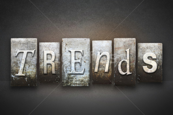 Tendencias palabra escrito vintage tipo Foto stock © enterlinedesign