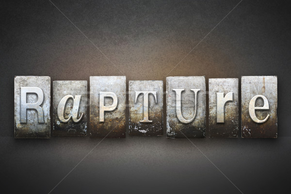 Rapture Letterpress Stock photo © enterlinedesign
