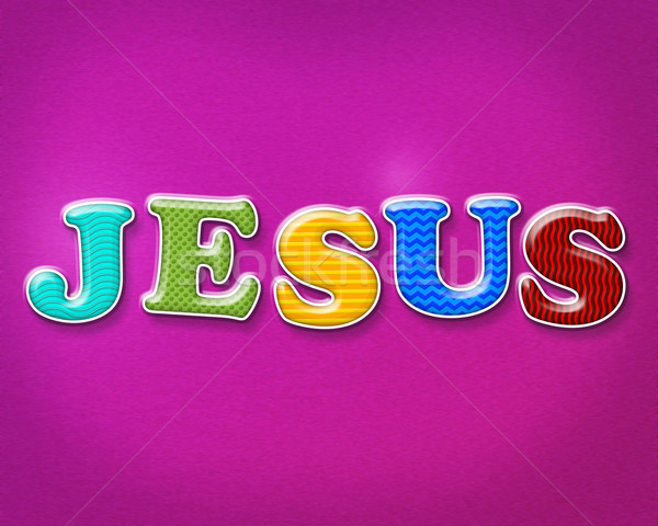 Colorful Jesus Theme Stock photo © enterlinedesign